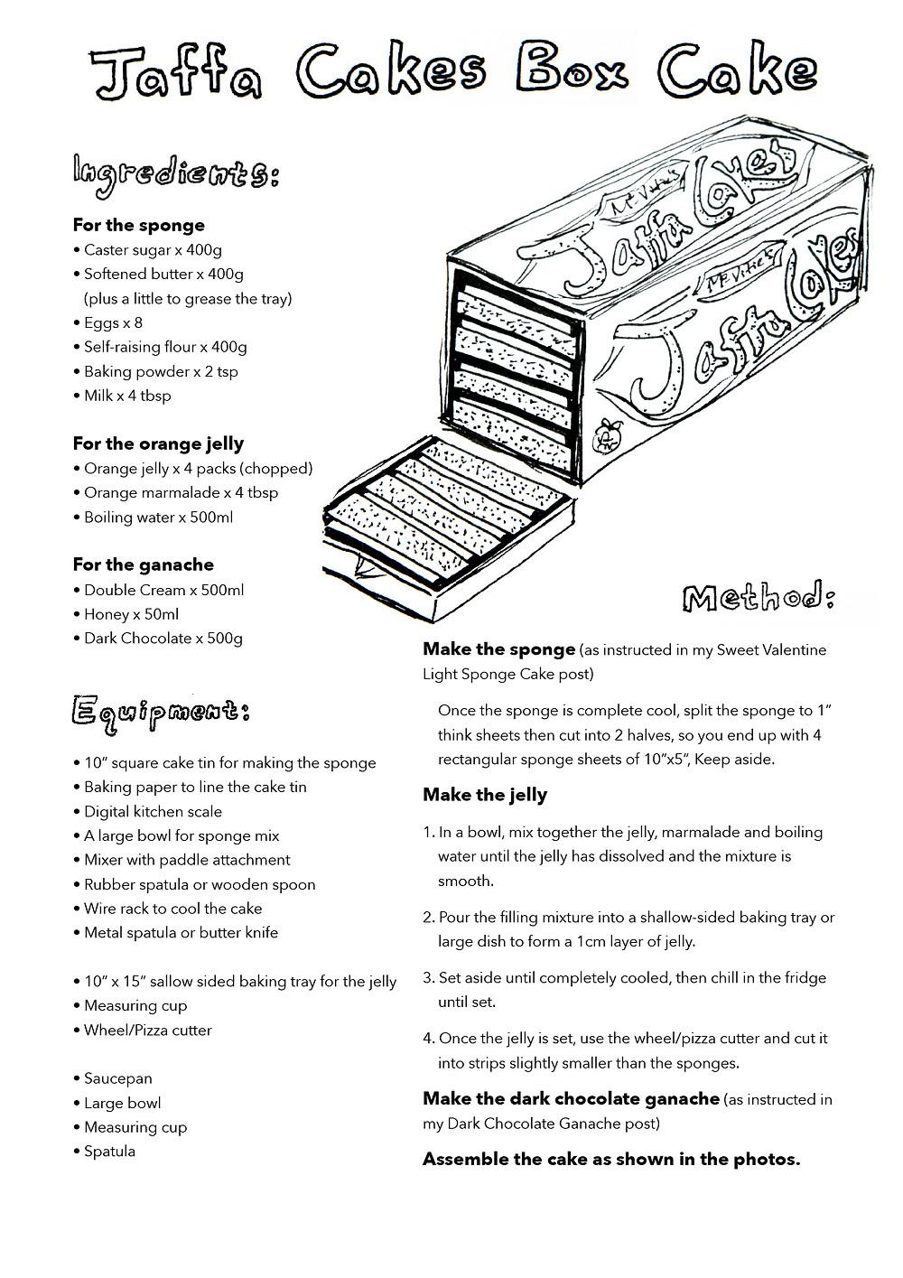 Jaffa Cakes Box Cake recipe
