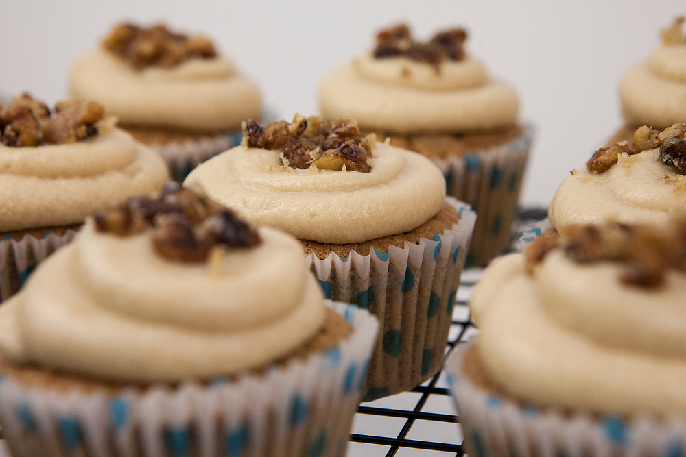 Coffee Walnut cupcakes