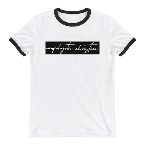 Unapologetic Christian Ringer Tee