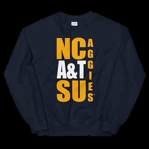 NCATSU Block Crew Sweatshirt