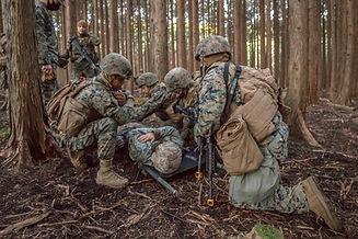 Corpsmen conduct tactical combat casualt