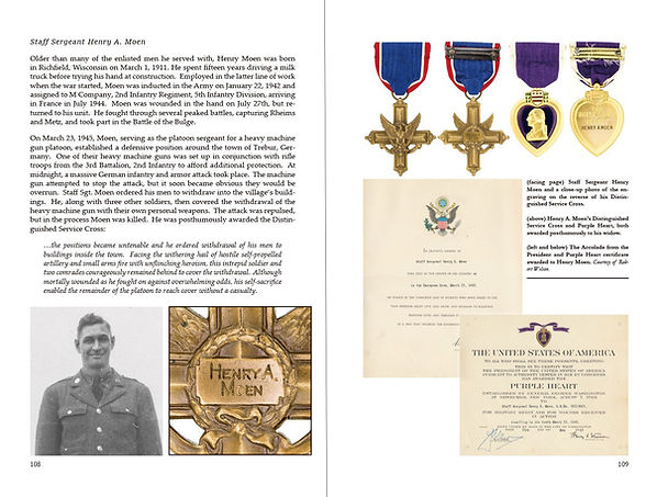 The Distinguished Service Cross and Purple Heart of Henry A. Moen, United States Army