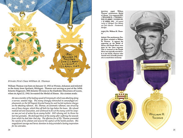 The Medal of Honor and Purple Heart of William H. Thomas, US Army