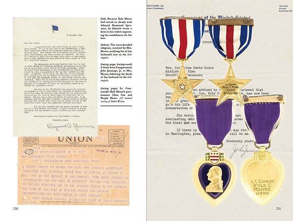 A Navy Silver Star and Purple Heart to a crew member of the USS Indianapolis