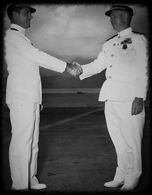 Donald Mason Receives his Order of Glory in 1946.