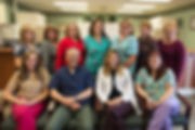 group picture of staff at Shelton and Gibbons Dental