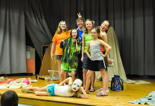 "Destination Imagination ""DI"" Family Night practice performance"