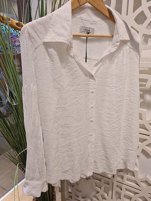 pastel shirt לבן