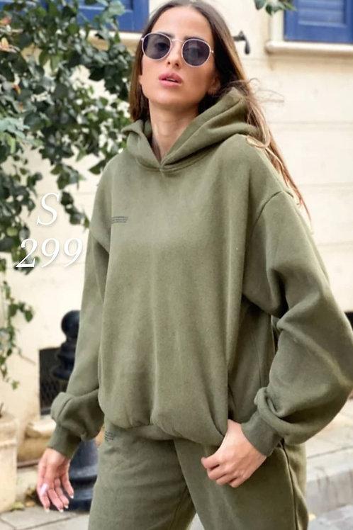 חליפת pangaia ירוק זית