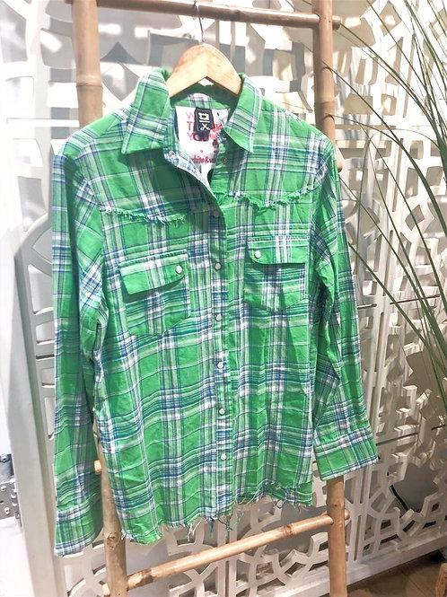 חולצה מכופתרת white&vanilia ירוק