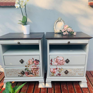 Painted Bedside Pedestals