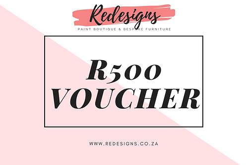 R500 Redesigns Voucher