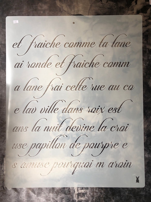 Large French Script