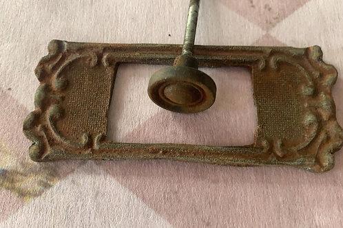 Backplate with knob