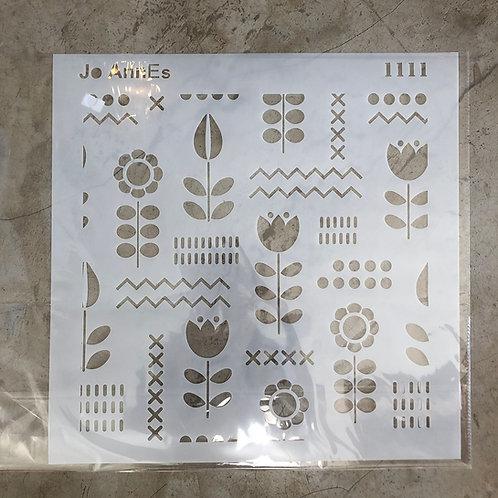 Jo Annes Stencil 1111 - 400 x 400