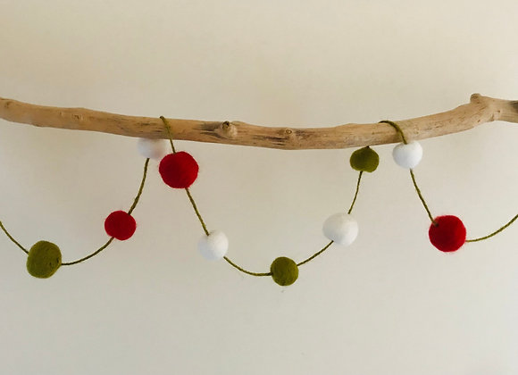 Berry Festive Petit Pom Garland