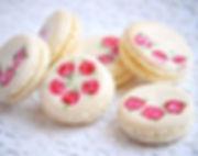 Hand painted vanilla bean macs for a lov
