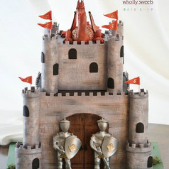 Knights and dragons!__#wiltoncakes