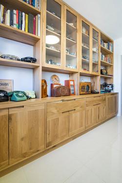 ספריה מעץ מלא | חדר עבודה