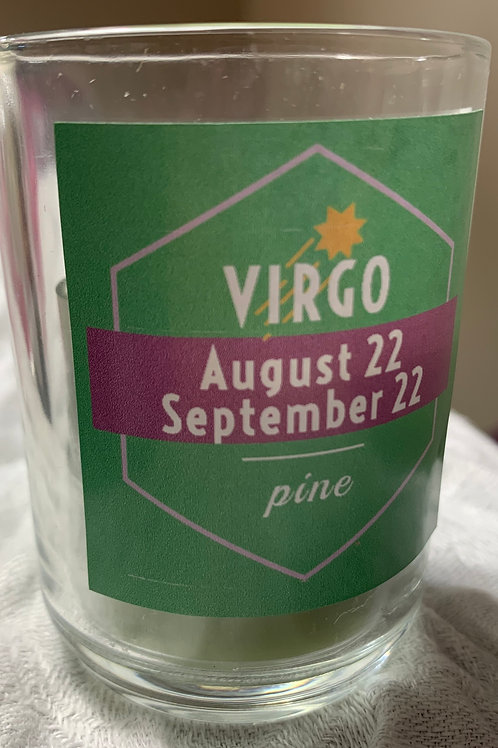 Virgo Pine Candle