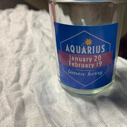 Aquarius Lemon Berry Candle