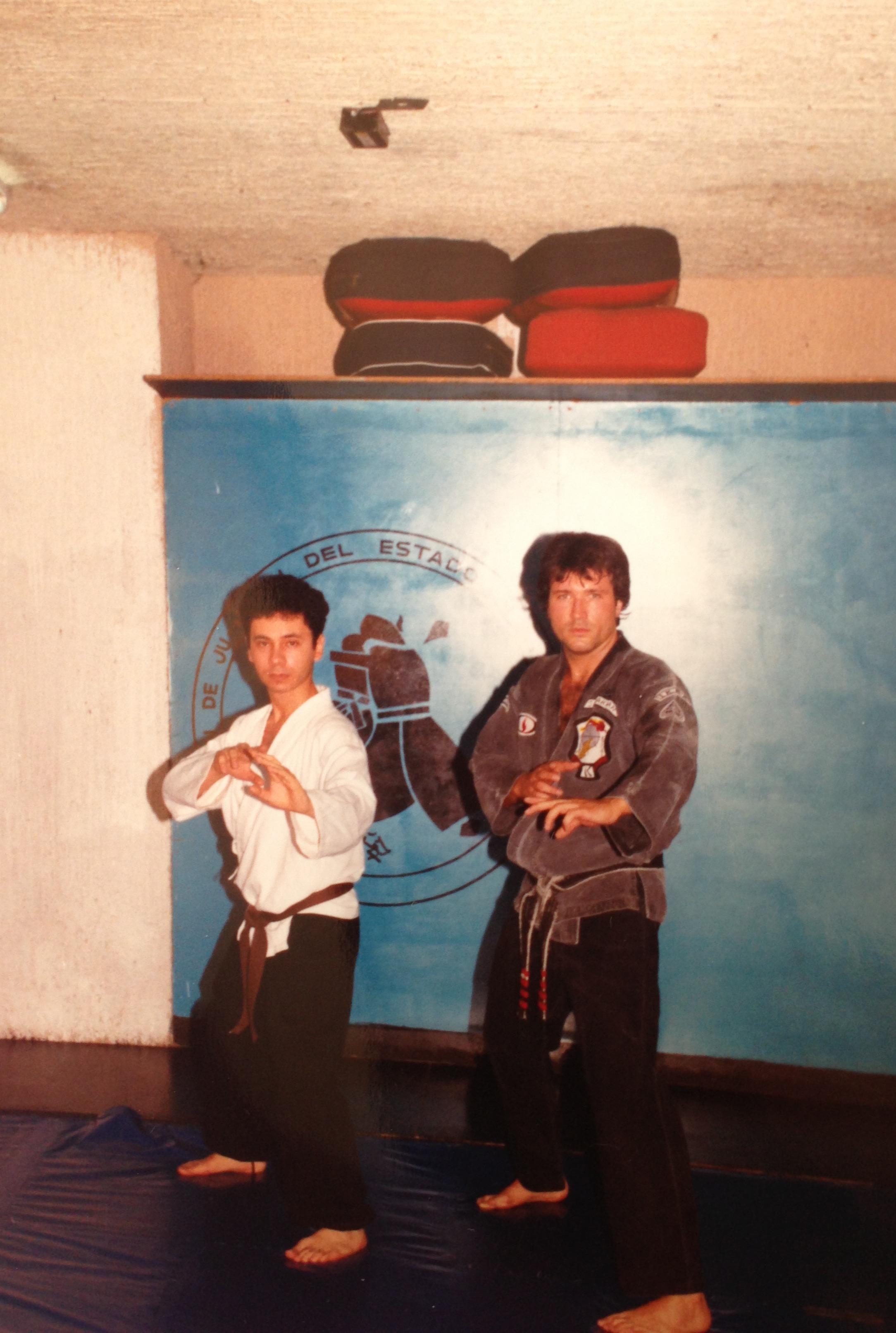 Jeff Speakman y Eduardo Barraza