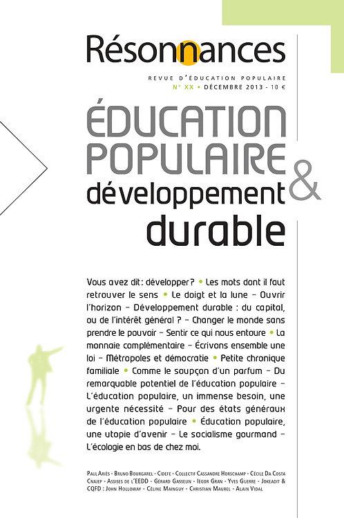 N°20 Education Populaire & Developpement Durable