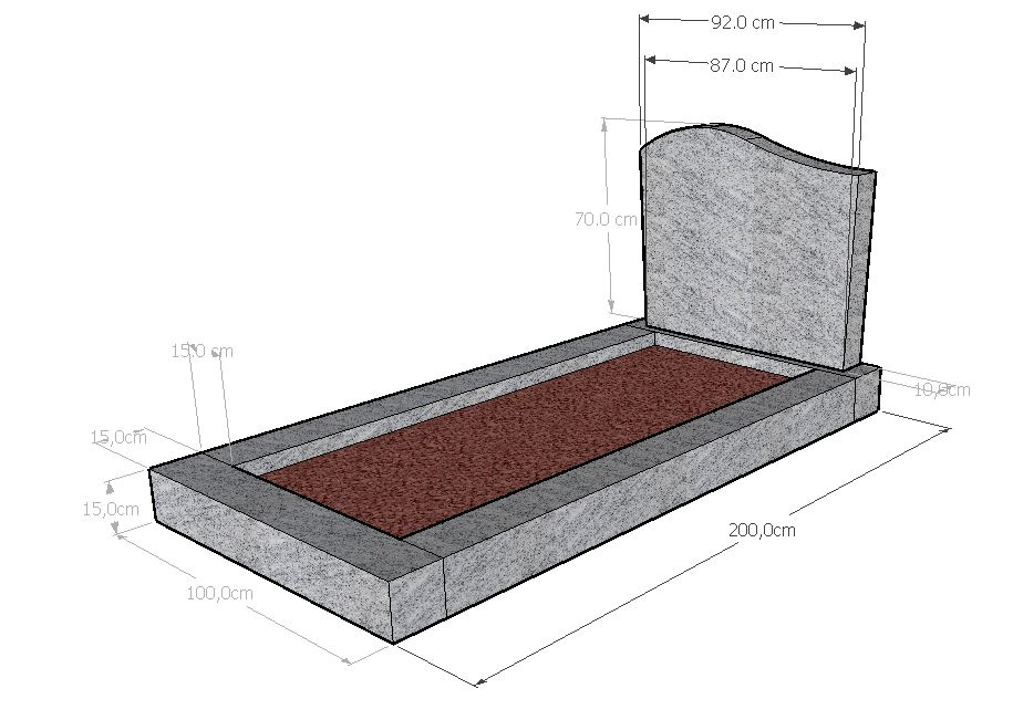 Monument funéraire jardinet