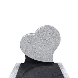 Stèle en forme de coeur