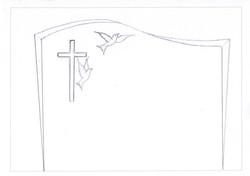 Monument funéraire motif client