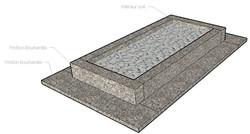 Monument funéraire jardinet granit