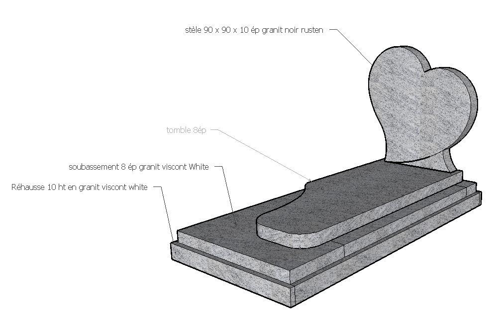 monument funéraire coeur