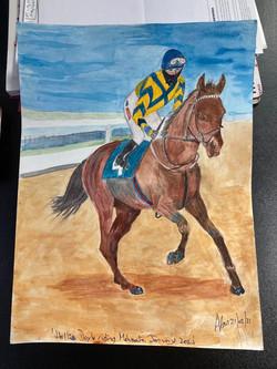 Hollie Doyle , riding Mehmento by Alan