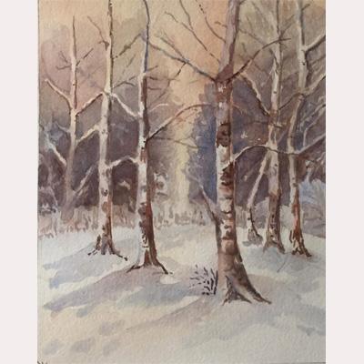 winter scene by Maureen