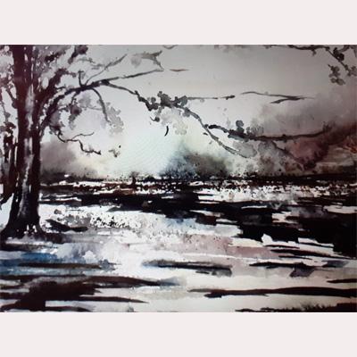 Winter scene by Rachel
