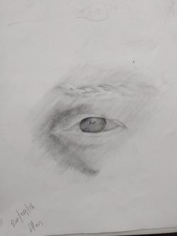 A human eye by Alan