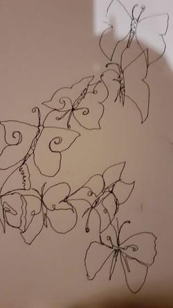 Line drawing by Rachel