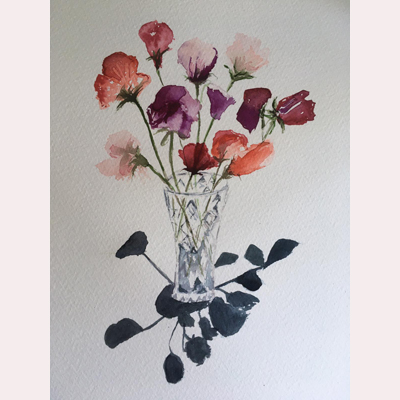 Flowers- Sweet Peas by Dee