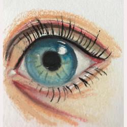 A human eye by Moyra