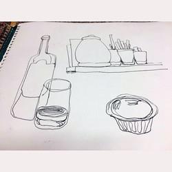 line drawings by Brenda