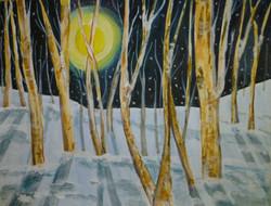 Jean's Moonlit Snowfall