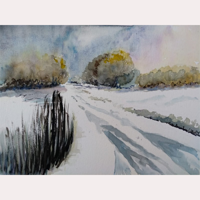 Winter scene by Nicola
