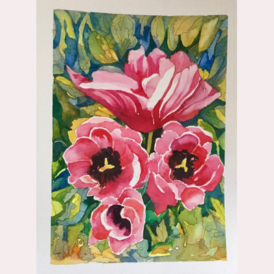 Flowers in watercolour by Maureen