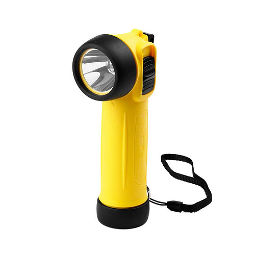 Yellow Right Angle ATEX Safety Torch