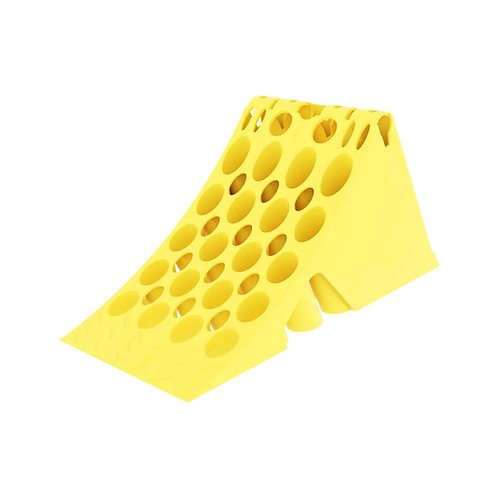Large Yellow Plastic Wheel Chock (For Vehicles Over 3.5T)