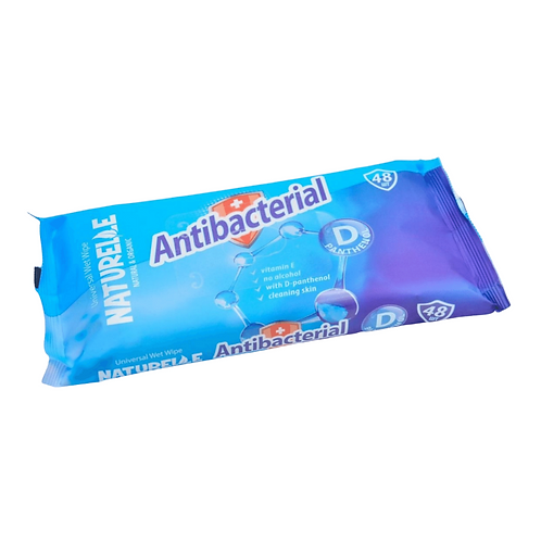 Antibacterial Wipes, Pack of 48