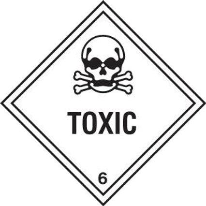 UN Hazard Warning Diamond Class 6.1 - Sticker 250mm x 250mm