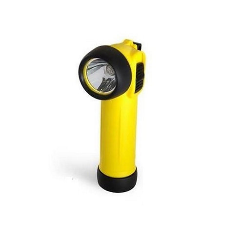LED Yellow Right Angle ATEX Safety Torch