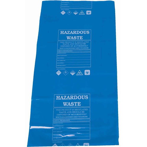 Hazardous Waste Disposal Bags & Ties (Pack of 10)