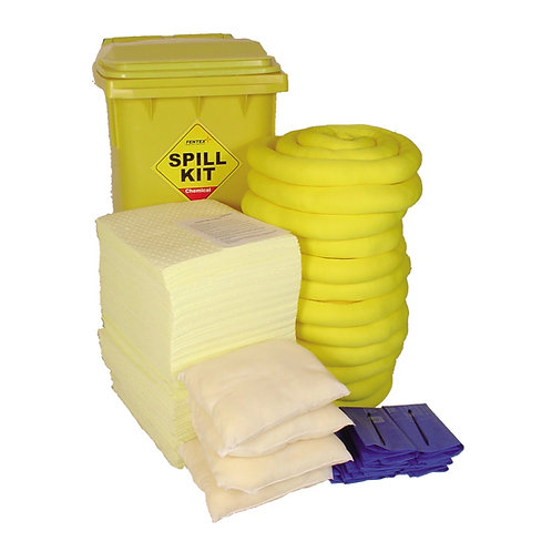 200 Litre Chemical Absorbent Spill Kit in Bin